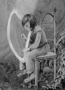 harp fantasy roman tzanata wendy gillissen michelle ross bekroonde esoterie boek literatuur